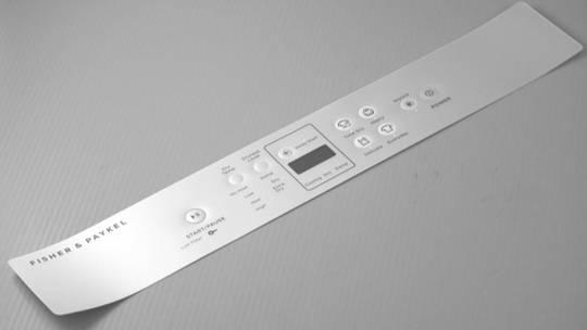 Fisher Paykel Haier Dryer Decal Inverter de6060M1, DE6060M2,  upsides down sticker,