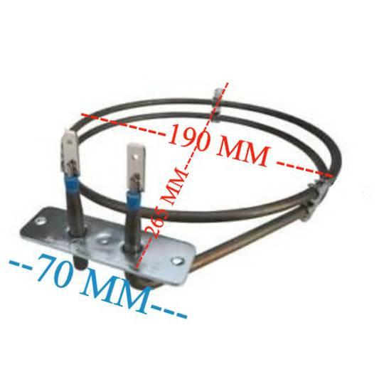 Haier oven fan forced element HOR90S9MSX1, H0R90S9MSX1, 1370-1630, XR1904, 1500 WATT,