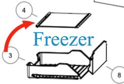Haier Freezer Glass Shelf HRF454TW3, NO ETA NO PRICE YET