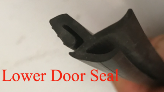 Freestanding Dishwasher Lower Door Seal, limit stock