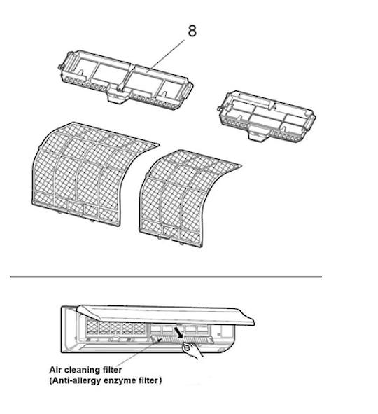 Mitsubishi AIRCON Catechin Air Filter Plasma deodorizing filter (left) MSZ-FB25VA-A1 MSZ-FB35VA-A1 MSZ-FB50VA-A1