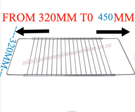 Oven Wire Rack Universal Extendable and Adjustable with Screw RACK5000, RACK6000,