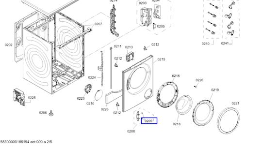 Bosch Washing Machine Door Hinge Bushing wap28380au,WAQ243D0,
