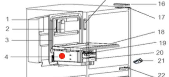 MITSUBISHI FRIDGE Ice maker side rail holder,