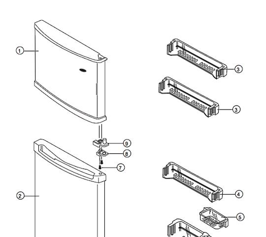 samsung freezer door shelf SR21NME, SR21WME, SR-24NME, SR24WME, SR25NME, SR-25NME, SR25WME