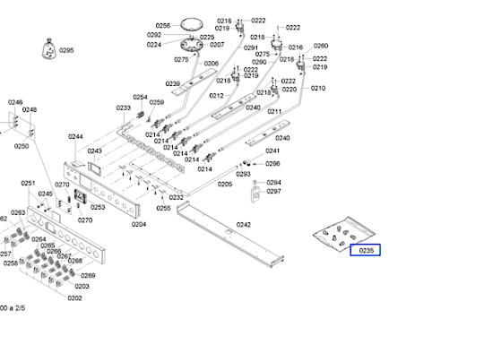 Bosch Oven and Cooktop LPG Nozzle 6 Burner HSB745256A,