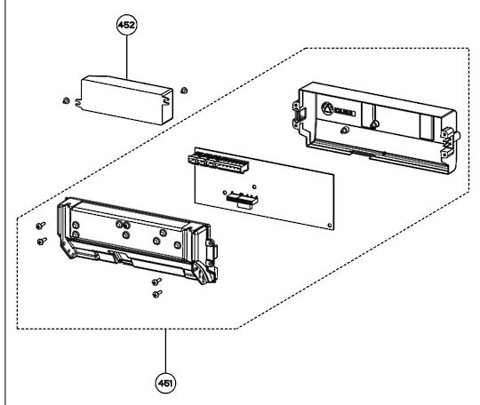 Smeg Rangehood pcb Board SHB120LEDSS, SHB90LEDSS,