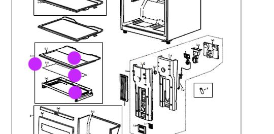 Samsung Fridge Glass Shelf Cover Veggie Bin  SR367NW,