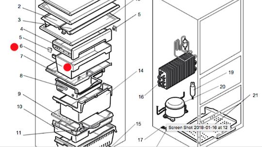 MITSUBISHI FRIDGE Case Slide Bin  cu415, No Longer Available, cu375u,