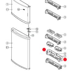 Samsung fridge and freezer door Bottle Guard shelf SR-29NXB, SR-29NXB, SR-33NXB, SR-33NXB, SR-V29H, SR-V33H,