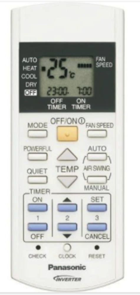 Panasonic Air condition and Heat Pump Remoter Controller CU-E9GFE-1, CS-E9GFEW, CS-E12GFEW, CS-E18GFEW