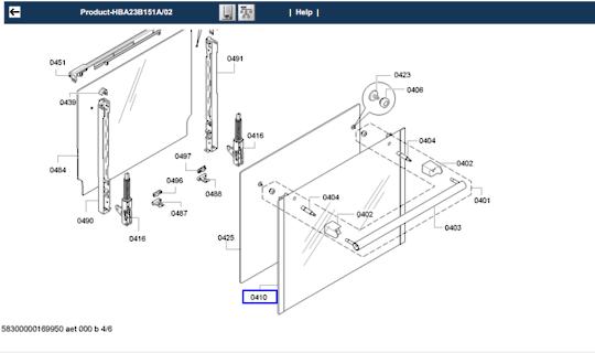 Bosch oven Door outter Glass HBA23B151A/02, HBA23B151A/01, HBA23B151A/03, HBA23B151A/04, HBA23B151A/70