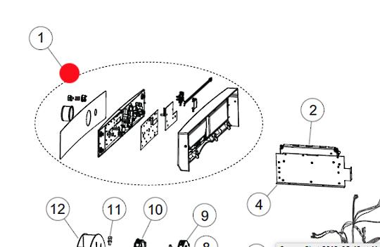 Fisher Paykel Dryer DISPLAY MOUDLE DE6060P1, DE7060P1,