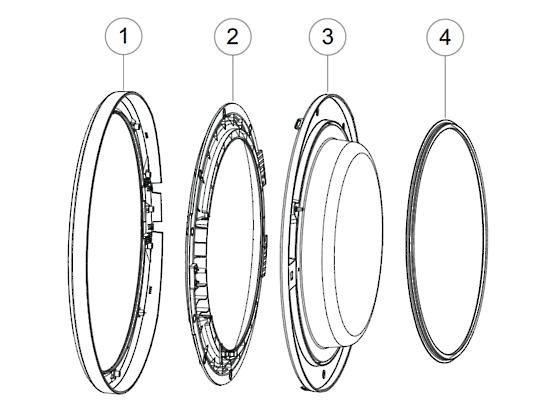 Fisher Paykel Dryer DOOR OUTER FRAME DE6060P1, DE6060G1, DE5060G1, DE5060M1, DE7060P1, DE7060G1,