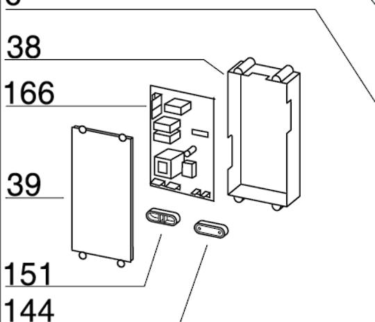 Baumatic Rangehood Pcb controller board Main BKG60pp,