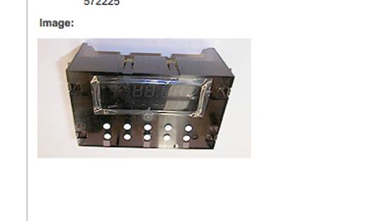 Fisher  Paykel Shacklock Oven clock timer  M570A, M570E, TM570D, XM570, XM570D, XM570X, TCM570, M620, M645, M754, 75