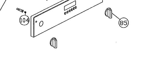 Omega Everdure OVEN knob KNOB S/S OG72XA,
