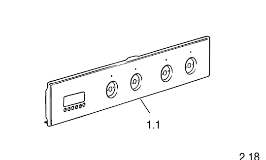 Delonghi Oven Control Panel DOMFPSI, DOMFPS1,