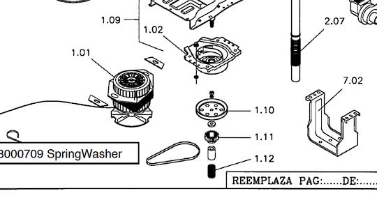 Baumatic CLASSIQUE WASHING MACHINE Pulley Bk6EL, CL6El,