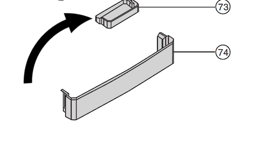 Panasonic Fridge Half Shelf NR-BR34AMSAU, NR-BR34AMWAU, NR-BR34B, *3470