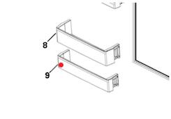 Haier Fridge bottom  Shelf on Door hrf335fg, hrf-321fg, hrf-321fw, hrf335fs, HRF297FG, HRF-297FG,
