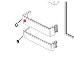 Haier Fridge large Shelf on Door hrf-335fw, hrf-297fw, hrf-297fg, hrf335fg, hrf-321fg, hrf-321fw, hrf335fs,