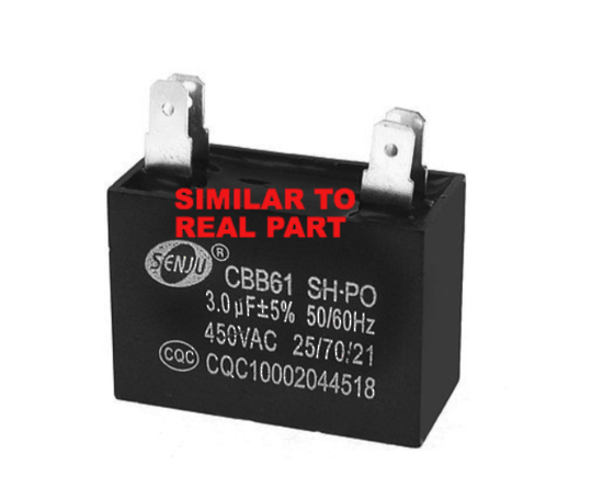 Robinhood Rangehood Capacitor 3Uf RPA3CI9SS, RPA3CI9WH, RPA3CI6SS, RPA3CI6WH, and all model start with RPA