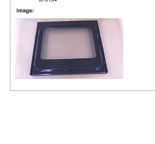 Elba Fisher Paykel Freestanding Oven INNER DOOR  Glass RA6102, RA6102M, RA6103, OR61S2, OR61S8,