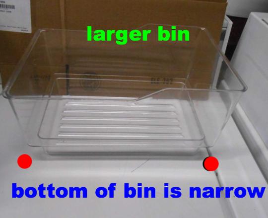 Elba and Fisher Paykel Fridge larger Veggie bin or freezer Bin E422B, E406B,
