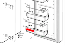 Westinghouse Electrolux Simpson  fridge BOTTLE SHELF ESE6107SC, LOWEST ON DOOR