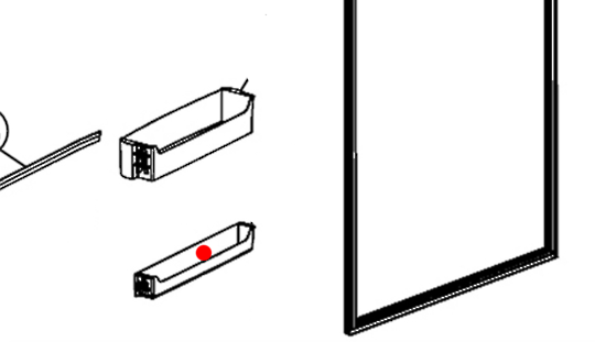 Haier Fridge Freezer Shelf on Door CFL629CW, AFL628CX, AFD630IX, HBMF348AX, HBMTD349AW