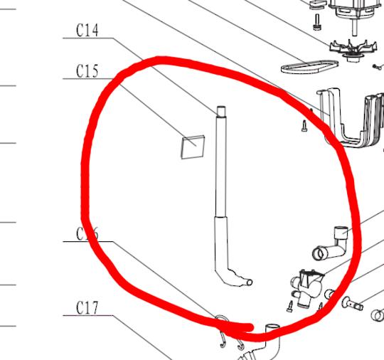 CLASSIQUE WASHING MACHINE HOSE overflow CL5EL, CL7EL,