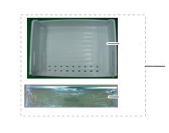 Samsung Freezer lower Bin SRL455DLS, SRL458ELS, SRL450ELS,