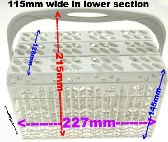 Parmco Sanyo Indesit Baumatic Classique Dishwasher Cutlery basket universal,