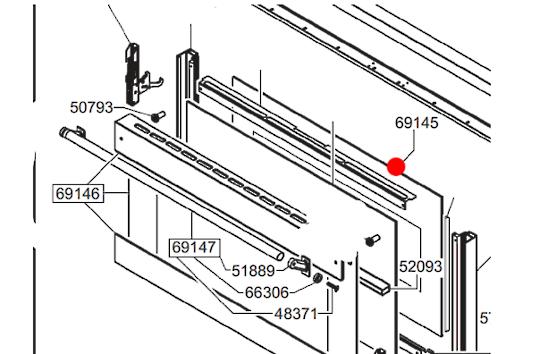Smeg Oven door Inner Glass A5-6,