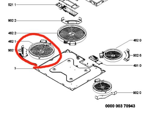 Whirlpool cooktop Element 1585 watt 180mm AKT809BA,