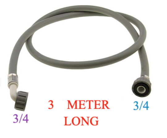Washing Machine And Dishwasher Inlet Hose 3 Meter Long cold only, with washer , COLD ONLY