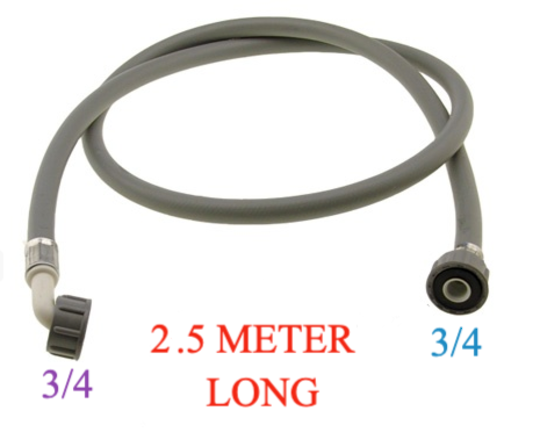 Washing Machine And Dishwasher Inlet Hose 2.5 Meter Long cold only, with washer , COLD ONLY