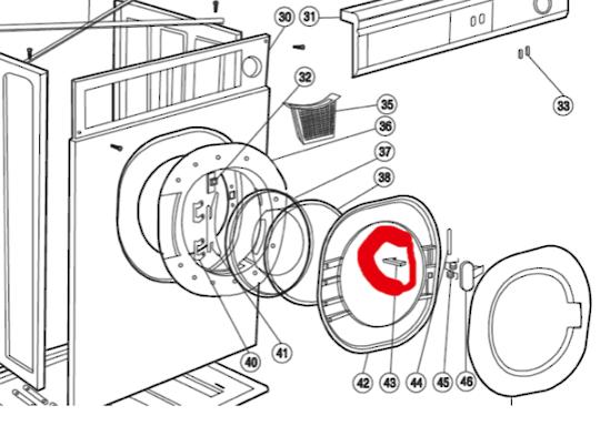 Haier Dryer Catch Door GDZ5-1, HDY5-1,