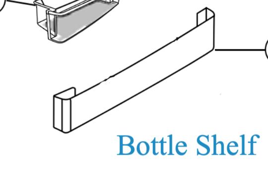 Panasonic Fridge Bottle Shelf  NR-BY552XSAU NR-BY552XWAU, NR-BY602XSAU NR-BY602XWAU,