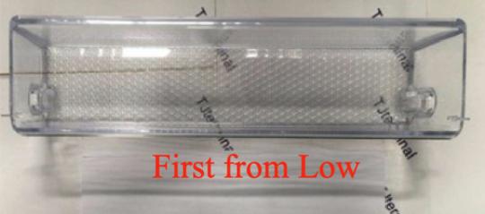 samsung fridge door Bottle shelf first from low RS62K62B7SL/SA, SRS655NLS,