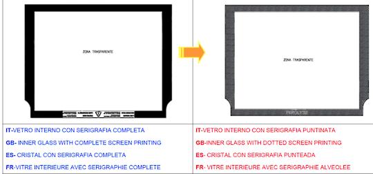 Smeg Oven INNER GLASS A5-5, A5-8, LARGER OVEN DOOR