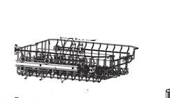 Omega Dishwasher upper basket ODW507TXB, ODW702XB,