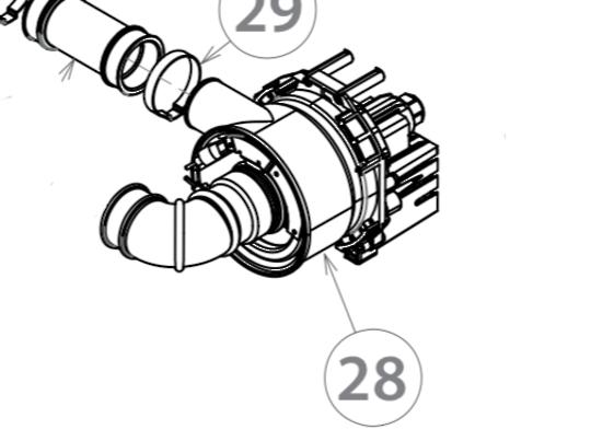 Fisher Paykel  Elba dishwasher Wash Motor Wash Pump Including Element assy ,