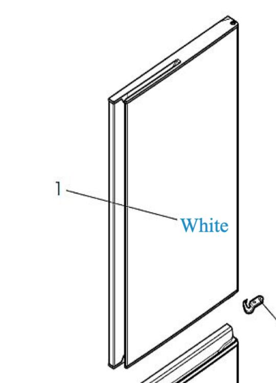 MITSUBISHI FRIDGE fridge doorMR-CX370EJ-w-a White