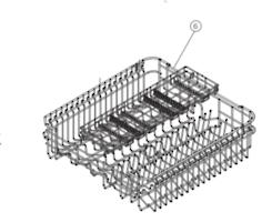 HAIER DISHWASHER Upper Basket HDW13G1W, HDW13G1x, DW60fex1, HDW13V1W1, HDW13V1S1,