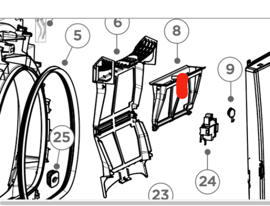 fisher paykel Dryer LINT FILTER INNER DE8060p1, DE8060C1, DH9060P1, HDHP80E1, DH9060C1,