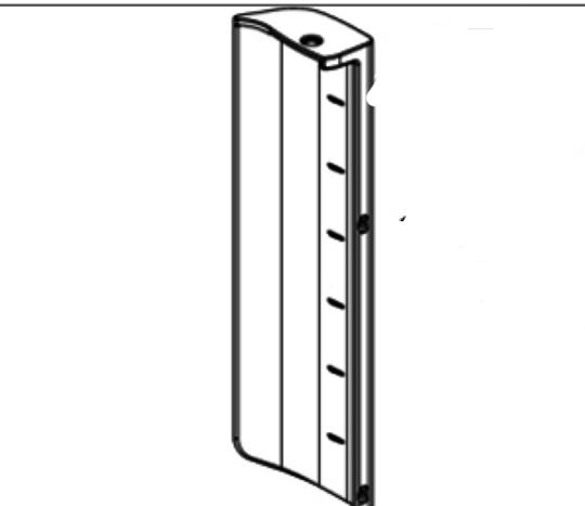 Elba fisher paykel fridge door Handle Short Curve Plastic RIGHT HINGE RF331, E331, E372, RF440, RF521, E413, E440, E442, RF