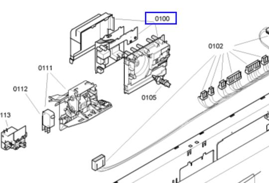 Bosch Dishwasher CONTROLLER BOARD PCB SGS53E02AU/30, SGS53E02AU/76 ,