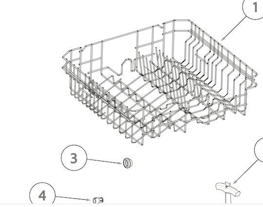 HAIER DISHWASHER Upper Basket DW12-TFE4SS,